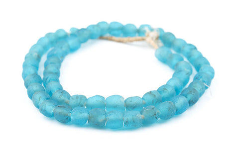Turquoise Recycled Glass Beads (9mm) - The Bead Chest