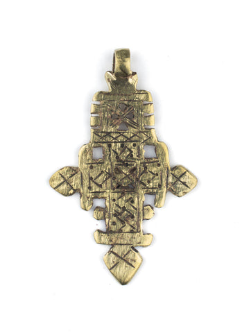 Brass Ethiopian Coptic Cross (Large) - The Bead Chest