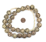 Pinwheel Circular Brass Filligree Beads (18mm)