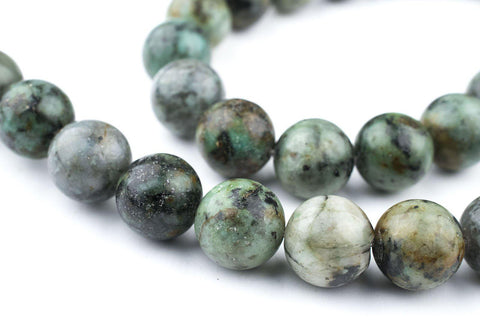 Image of Round African Turquoise Beads (12mm) - The Bead Chest