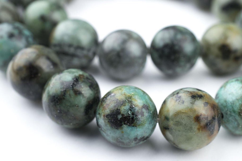 Round African Turquoise Beads (12mm) - The Bead Chest