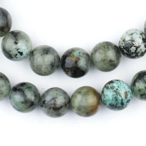 Round African Turquoise Beads (10mm) - The Bead Chest