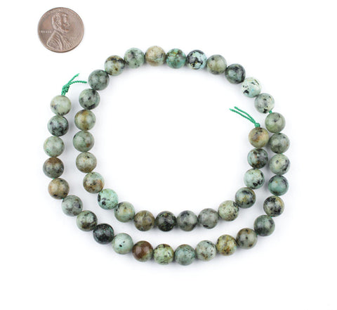Image of Round African Turquoise Beads (8mm) - The Bead Chest