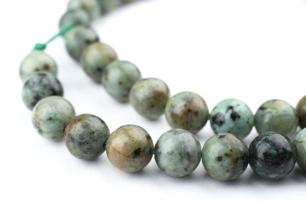 Round African Turquoise Beads (8mm) - The Bead Chest