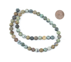 Round Matte African Turquoise Beads (8mm)