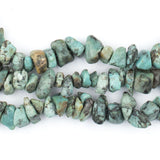 African Turquoise Chip Beads (Long Strand)