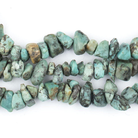 African Turquoise Chip Beads (Long Strand) - The Bead Chest