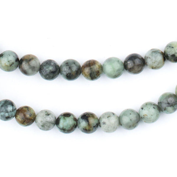 Round African Turquoise Beads (6mm) - The Bead Chest