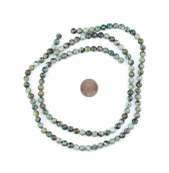 Round African Turquoise Beads (6mm)