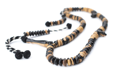 Image of Ebony Wood Rondelle Arabian Prayer Beads (10mm) - The Bead Chest