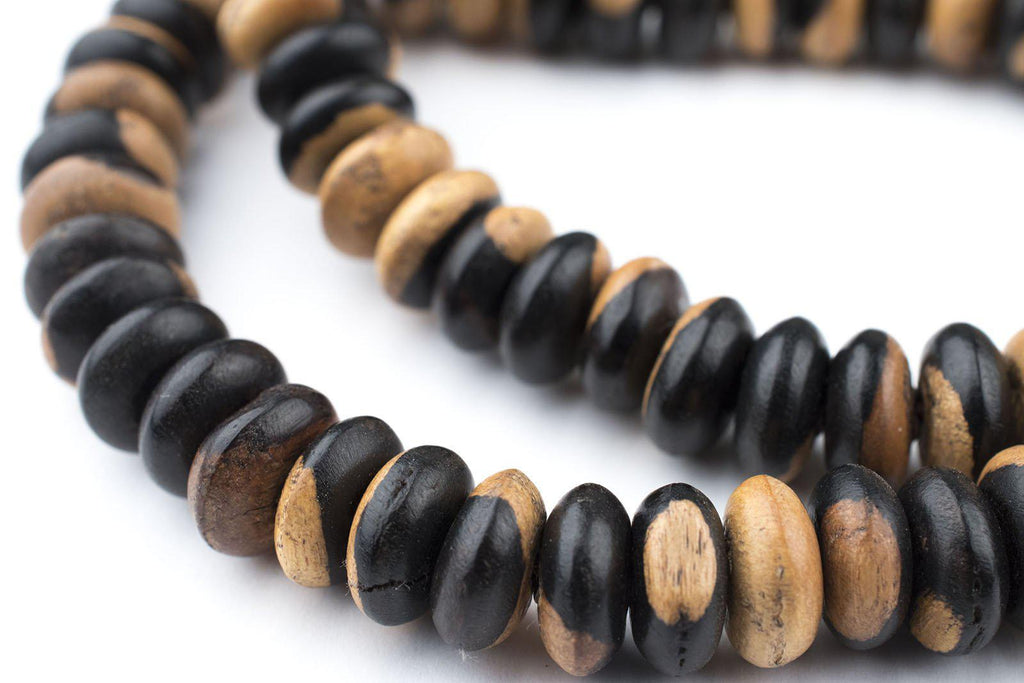 Ebony Wood Rondelle Arabian Prayer Beads (10mm) - The Bead Chest