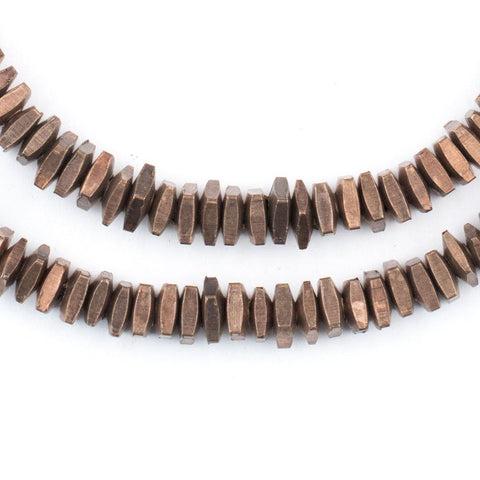 Geometric Antiqued Copper Beads (5mm) - The Bead Chest