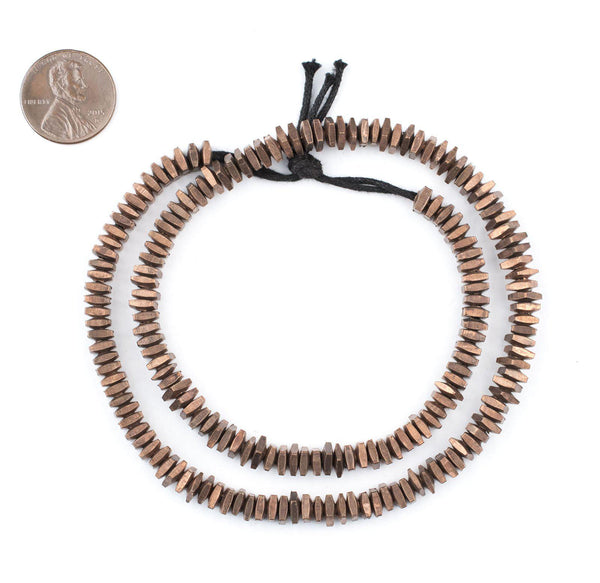 Geometric Antiqued Copper Beads (5mm)