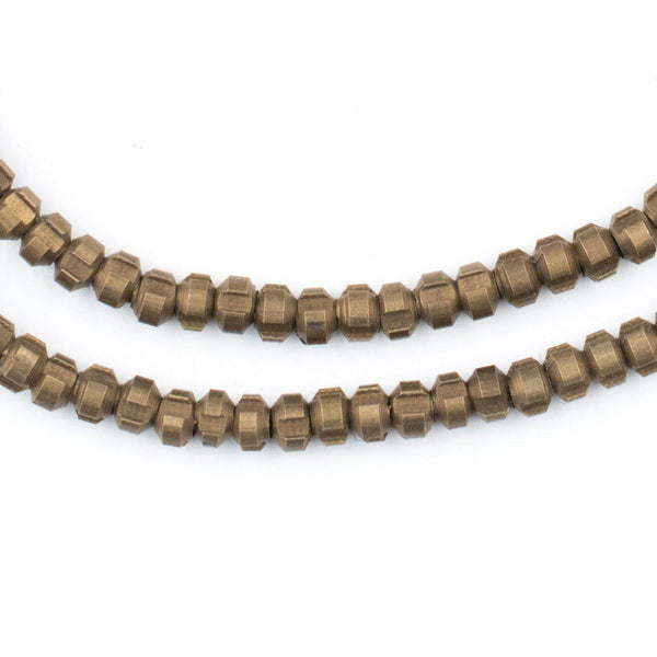 Antiqued Brass Indented Rondelle Beads (4mm) - The Bead Chest