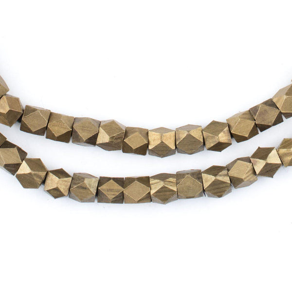 Antiqued Brass Diamond Cut Beads (4.5mm) - The Bead Chest