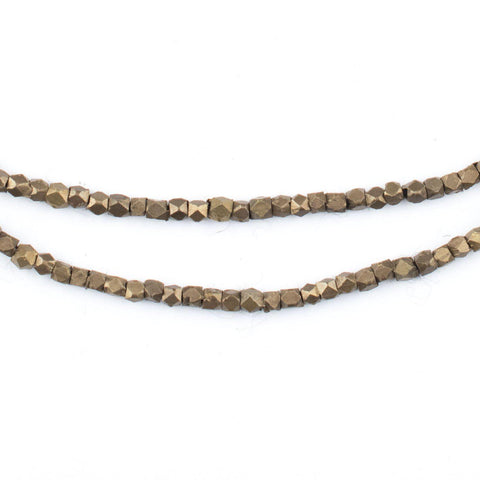 Antiqued Brass Diamond Cut Beads (2mm) - The Bead Chest