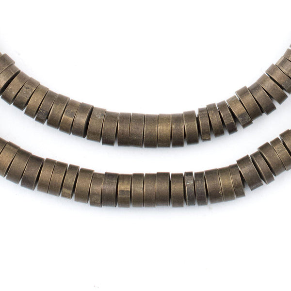 Antiqued Brass Snake Disk Beads (5mm) - The Bead Chest