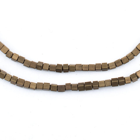 Antiqued Brass Cube Beads (2mm) - The Bead Chest