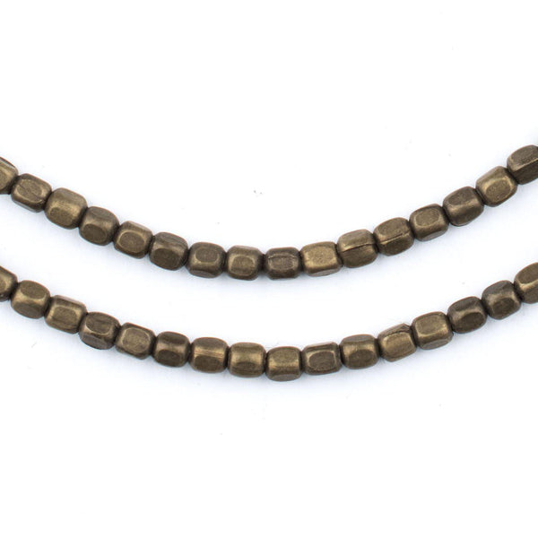 Rounded Rectangle Antiqued Brass Beads (3x2.5mm) - The Bead Chest