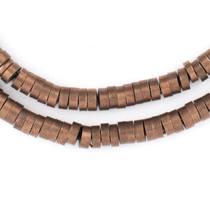 Antiqued Copper Snake Disk Beads (5mm) - The Bead Chest