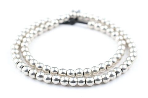 Silver Sphere Beads (6mm) - The Bead Chest