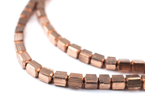 Copper Cube Beads (4mm) - The Bead Chest