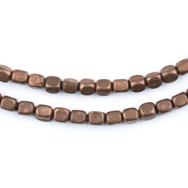 Rounded Rectangle Antiqued Copper Beads (4x3mm) - The Bead Chest