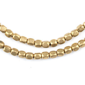 Rounded Rectangle Brass Beads (4x3mm) - The Bead Chest