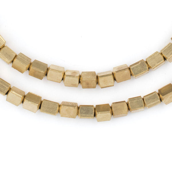 Brass Cube Beads (4mm) - The Bead Chest