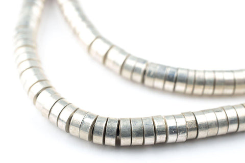 Silver Snake Disk Beads (5mm) - The Bead Chest