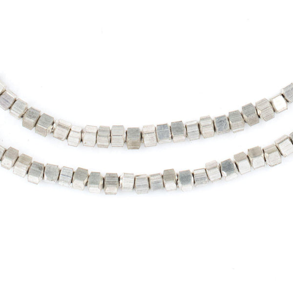 Silver Cube Beads (3mm) - The Bead Chest