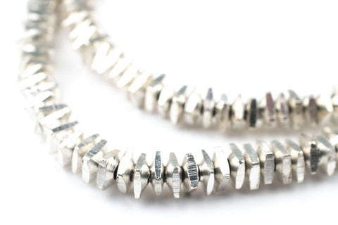 Geometric Silver Beads (5mm) - The Bead Chest