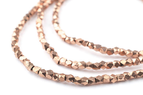 Copper Diamond Cut Beads (3mm) - The Bead Chest