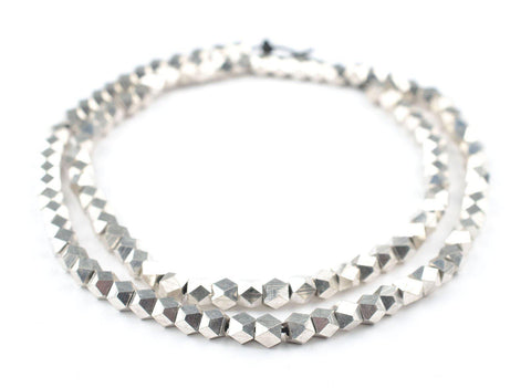 Silver Diamond Cut Beads (6mm) - The Bead Chest