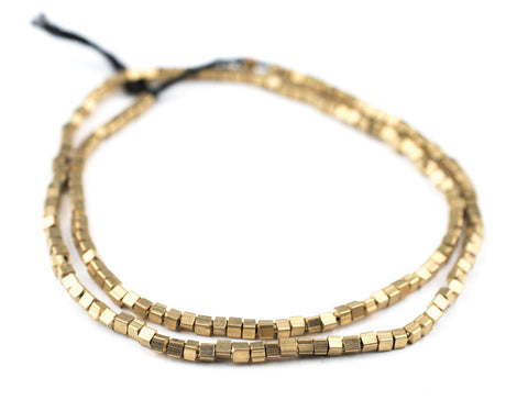 Brass Cube Beads (2mm) - The Bead Chest