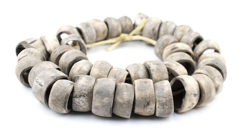 Rustic Grey Bone Beads (Ring) - The Bead Chest