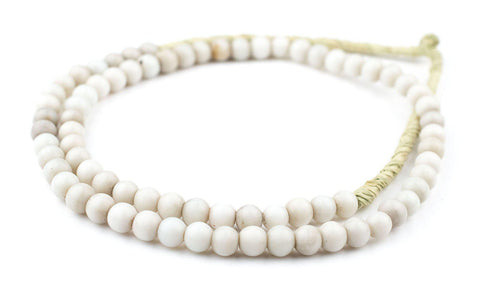 Round White Padre Beads (8mm) - The Bead Chest