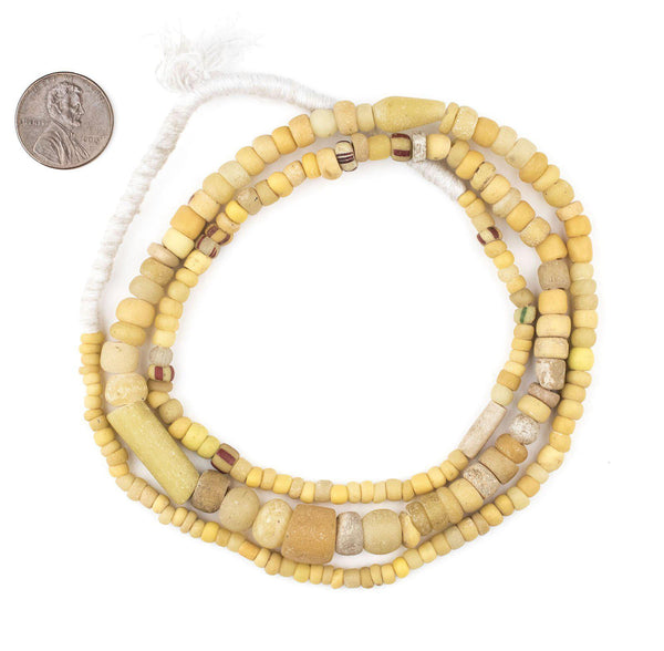 Ancient Yellow Djenne Nila Beads