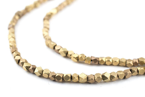 Image of Brass Diamond Cut Beads (2.5mm) - The Bead Chest