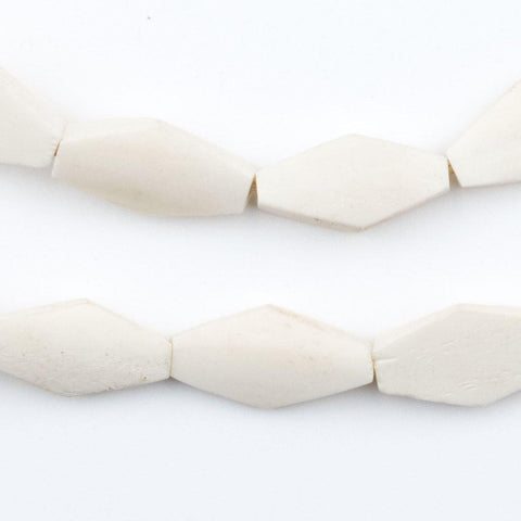 Kenya White Bone Beads (Geometric) - The Bead Chest