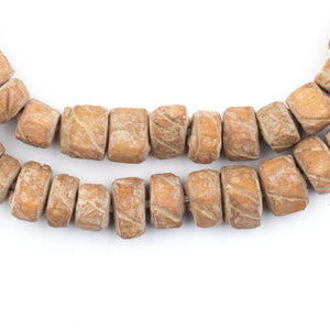 Tan Nigerian Camel Bone Beads (Disk) - The Bead Chest
