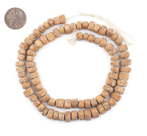 Image of Tan Nigerian Camel Bone Beads (Disk) - The Bead Chest