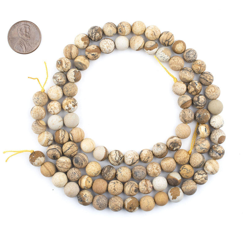 Round Picture Jasper Beads (8mm) - The Bead Chest