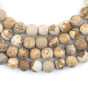 Round Picture Jasper Beads (6mm) - The Bead Chest