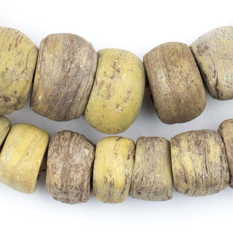 Antique Yellow Hebron Kano Beads (Natural) - The Bead Chest