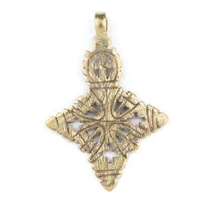 Brass Ethiopian Coptic Cross (60x40mm) - The Bead Chest