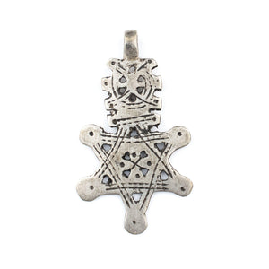 Ethiopian Silver Falasha Star of David (Large) - The Bead Chest