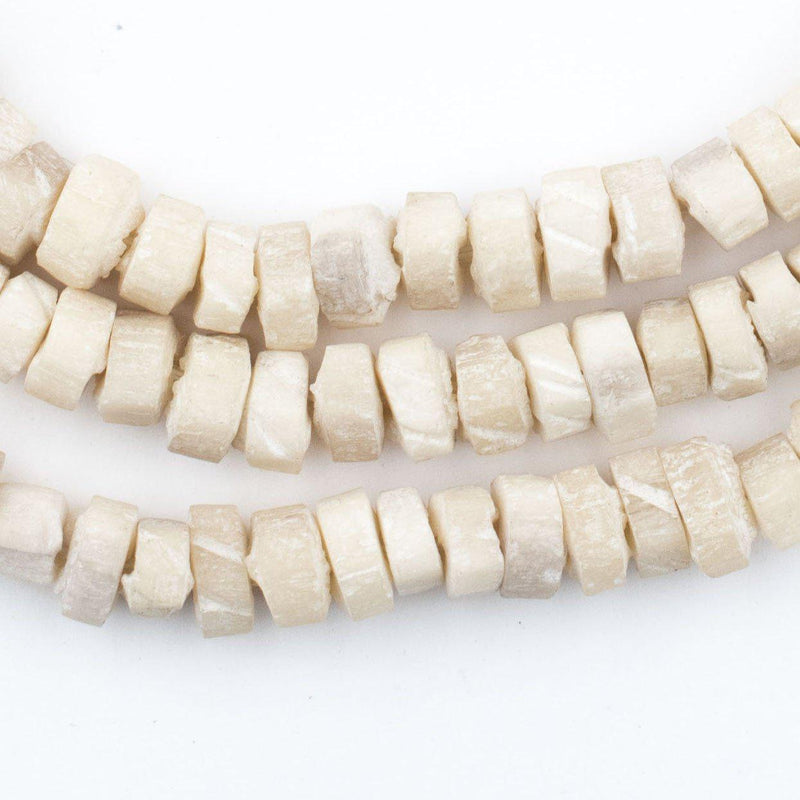 Nigerian Camel Bone Beads (Disk) (Long Strand) - The Bead Chest