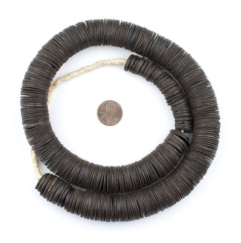 Extra Thin Coconut Bone Heishi Beads (18mm) - The Bead Chest