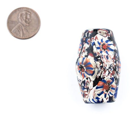 Jumbo Java Bicone Millefiori Bead - The Bead Chest